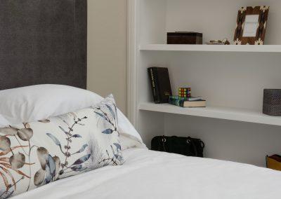 shelves in bedroom