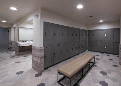 upscale locker room
