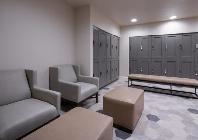 upscale locker room