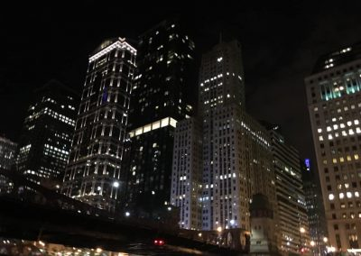 Chicago, IL at night