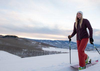 woman on skis