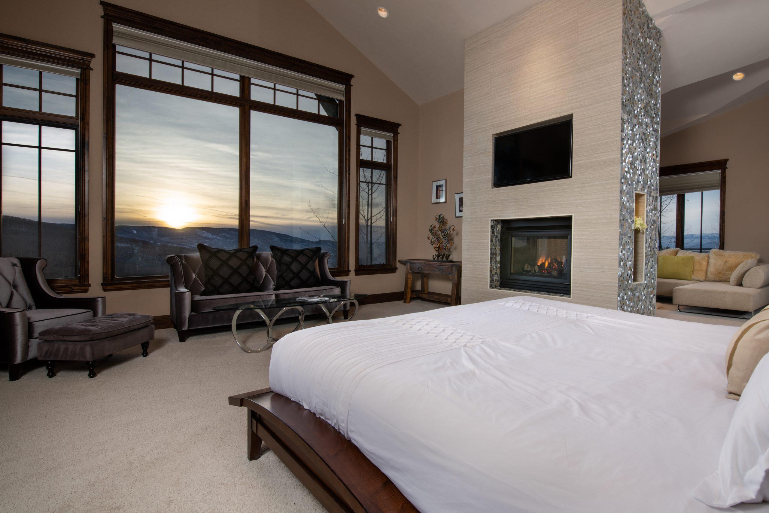 Bedroom with Sunset Window
