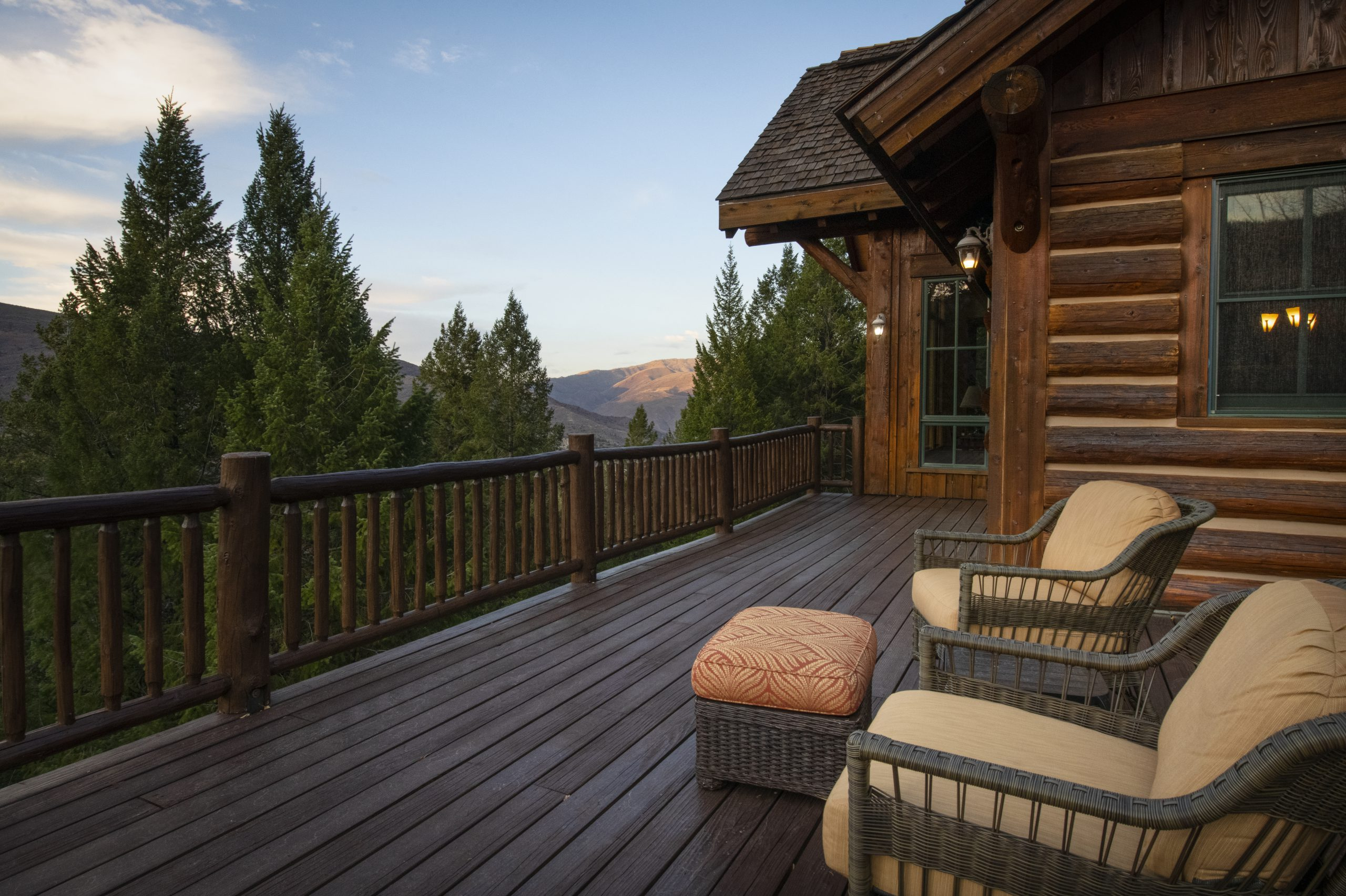 Deck Outside of House