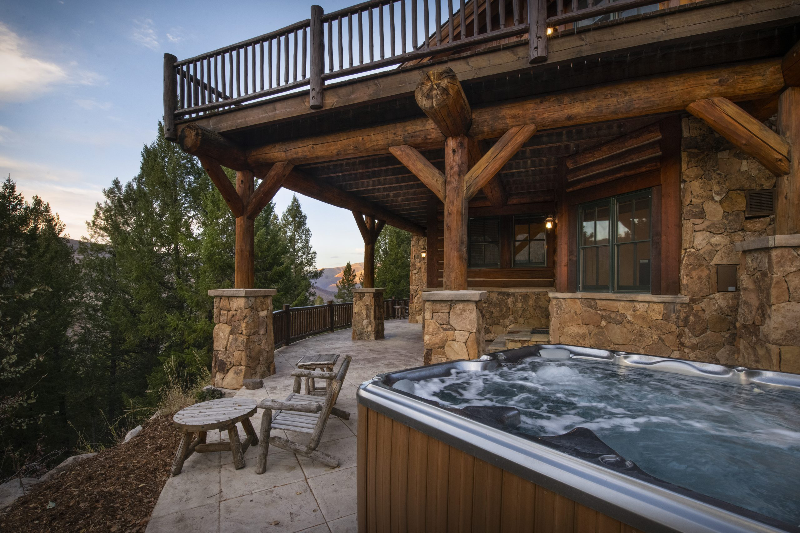 Hot Tub Outside of House